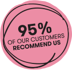 95% of our customers recommend us