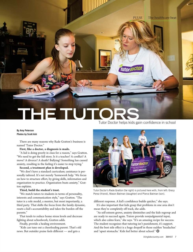 The Tutors - Article in Living Lake Country